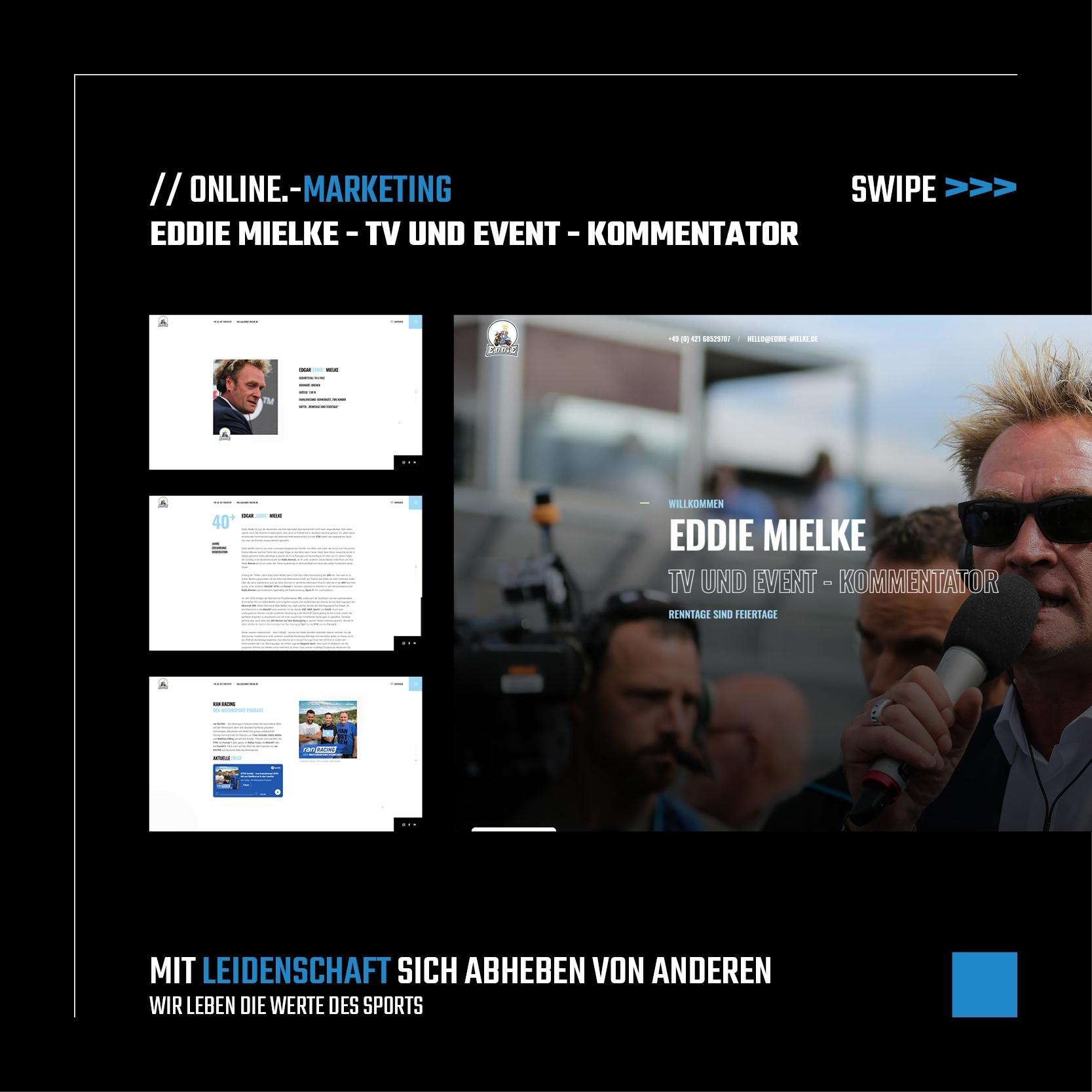 EDDIE MIELKE – TV UND EVENT – KOMMENTATOR